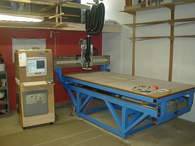 Madvac cnc home made 4 39 x8 39 cnc precision gantry router for Home built router